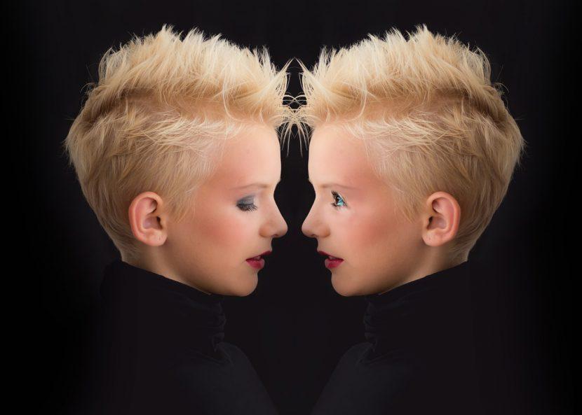 Zwillinge sehen sich ähnlich
