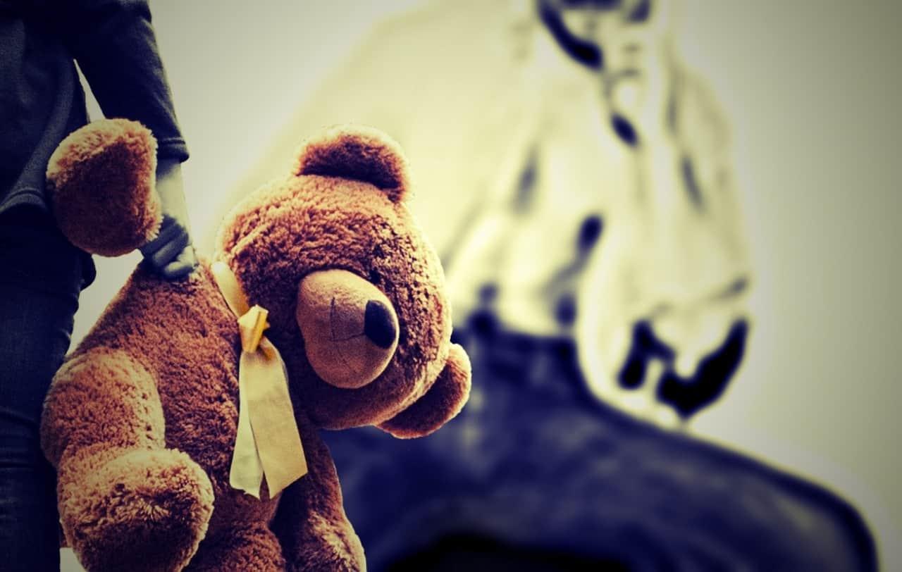 der Teddybär vermittelt Sicherheit