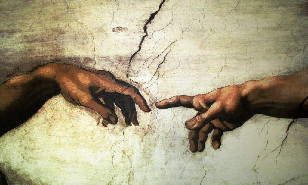 Berührung (Die Erschaffung Adams, Leonardo da Vinci)